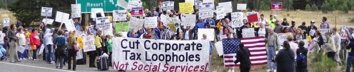 Hundreds gather to call to close tax loopholes