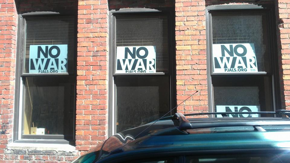 No War signs